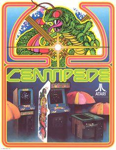 Classic Centipede Arcade flyer (1981)