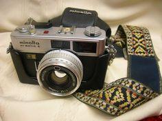 MINOLTA Hi-Matic E 35mm camera Rokkor-QF 1:1.7 f=40mm Untested parts or Restore #Minolta