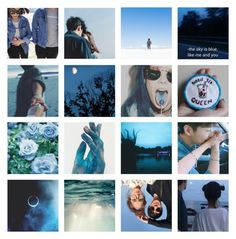 """""""everything is blue 蓝"""" by annefs1 ❤ liked on Polyvore featuring art"""