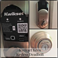 """""""The Kevo is a Bluetooth Electronic Deadbolt. As in hands free…no more key! Your smartphone becomes your key. As long as your phone is in your pocket or your purse, you can unlock the door with a simple touch of your finger. This. Is. Amazing."""""""