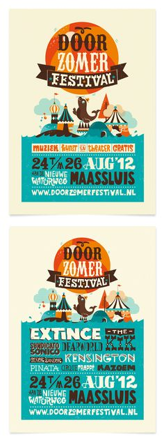 Doorzomer 2012 by Patswerk , via Behance