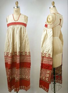 19 век .Женские фартуки