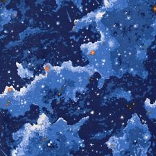 SPACE  GALAXY Planets Night Sky Cotton Patchwork   Quilting Fabric  FAT QUARTER