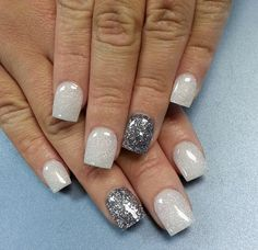 Silver and white