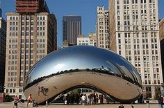 Hubby and I saw this on the internet a couple years ago and since then, we've always wanted to go to Chicago, Illinois, USA to see this monument.  Plus, there's a GeoCache there, too!