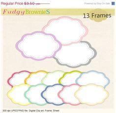 ON SALE frames clip artpastel colour frame by fudgybrownies