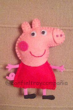 Con Fieltro y Compañía: Peppa Pig... la cerdita mas famosa del lugar.