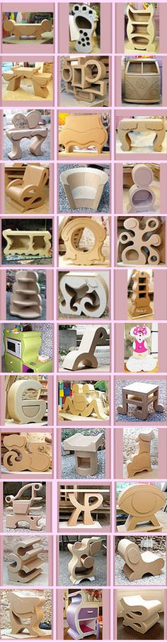 Cardboard Furnitures Items could be painted to withstand rain if given a couple of coats
