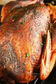 Make Thanksgiving EASY with this Applewood Smoked Turkey for Traeger! This practically effortless turkey recipe on a pellet grill is so juicy & delicious. You'll never bake a turkey in the oven agai Easy Turkey Recipes, Easy Thanksgiving Recipes, Top Recipes, Holiday Recipes, Holiday Meals, Fast Recipes, Holiday Dinner, Amazing Recipes, Brunch Recipes