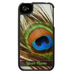 Peacock Feather Custom iPhone 4 Speck® Case by Electronika