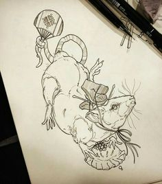 japanese tattoos symbols and meaning Rat Tattoo, Insect Tattoo, Tattoo Ink, Rabbit Tattoos, Mouse Tattoos, Japanese Tattoo Symbols, Japanese Tattoo Art, Asian Tattoos, Trendy Tattoos
