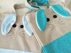 Happy easter - easter bag - sac pour pâques - sac lapin