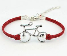 Antique silver Bike Bracelet Bicycle bracelet string bracelet Red rope Bicycle party Friendship gift bridesmaid gifts Graduation Outdoor sports jewelry,Wholesale or retail.