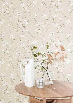 KWAI by Zoom // Leela Snow // A gentle, romantic, country-side portrayal of nature. Tropical, Interior Inspiration, Alcoholic Drinks, Interior Decorating, Romantic, Wallpaper, Glass, Design, Home Decor