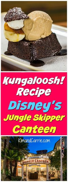 Disney chocolate dessert recipe from Jungle Skipper Canteen. This sinfully decadent dessert comes from the Magic Kingdom restaurant. Disney Food, Disney Recipes, Disney Tips, Disney Parks, Walt Disney, Disney Desserts, Disney Travel, Disney Stuff, Crispy Smashed Potatoes