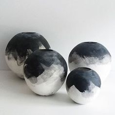 Black and white pottery art