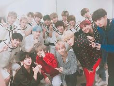 BTS with rookie group Golden Child