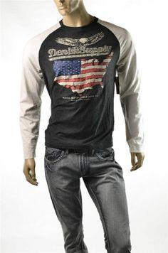 T-shirt Polo Ralph Lauren Men's Denim & Supply T shirt RL Motorcycle Sz M NWT