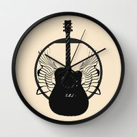 Wall Clock featuring Rock N Royalty by DM Davis
