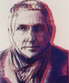 "Andy Warhol - Gertrude Stein (1980) - ""Argument is to me the air I breathe. Given any proposition, I cannot help believing the other side and defending it. 