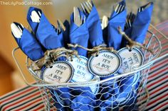 Napkin ring nautical baby shower