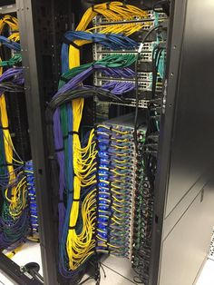 """Post with 11522 views. One of the racks in """"my"""" data center Data Center Design, Best Home Automation, Structured Cabling, Apple Pro, Server Rack, High Tech Gadgets, Cable Organizer, Network Cable, Computer Network"""