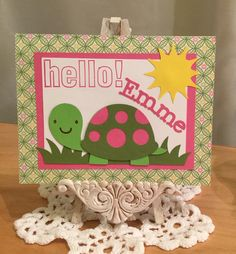 Hello Card / Made with Cricut Create A Critter and Mother's Day Bouquet Cartridges / Handcrafted By Cindy Babich (Cindyswishestogive 2016)