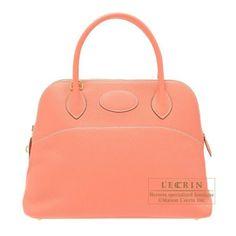 Hermes Bolide Bag 31 Crevette Clemence Leather Gold Hardware 6a7e897b15423