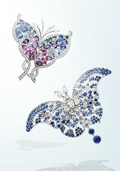 Bel Argus Butterfly clip & Hypolimnas Butterfly clip