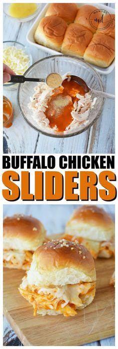 Buffalo Chicken Sliders | Shredded Buffalo Chicken Dinner Recipe | Slow Cooker or Oven