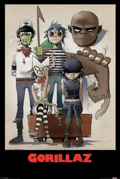 Pyramid International Maxi Poster - Gorillaz (All Here) - MAXI POSTER - BunlardanIstiyorum.com
