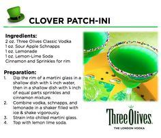 Experience 'Luck of The Irish' with this tasty cocktail. Happy St. Patrick's Day from Three Olives Vodka.