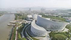 Strait Culture and Art Centre by PES architects. Located in Fuzhou China. Photograph : Linked Strait Culture and Art Centre by PES architects. Located in Fuzhou China. Photograph : Linked below Cultural Architecture, China Architecture, Cabinet D Architecture, Romanesque Architecture, Classic Architecture, Futuristic Architecture, Architecture Details, Museum Architecture, Contemporary Architecture