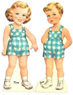Paper Dolls~Tiny Tots Twins - Bonnie Jones - Álbumes web de Picasa