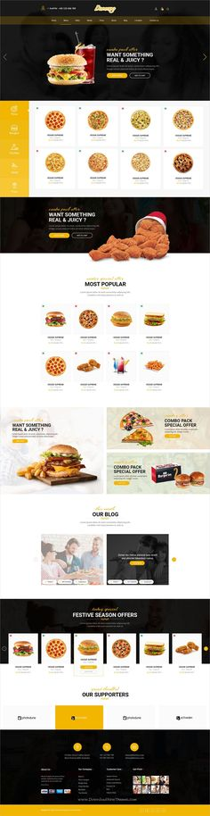 Domnoo is clean and modern #design PSD template for #restaurant and pizza #cafes website with 12 layered PSD files download now..
