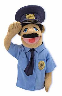 I will go pro-police if all officer is like this. Melissa and Doug - Hand Puppets - Police Officer Puppet Shopkins, Paw Patrol, Marvel Avengers, Barbie, Melissa & Doug, Save The Day, Hand Puppets, Costume, Kids Hands