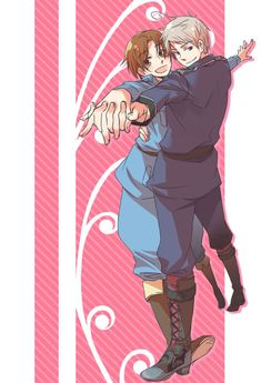 Tags: Anime, Axis Powers: Hetalia, Prussia, North Italy, Axis Power Countries