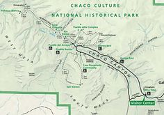 Map of the Chaco Culture National Historic Park