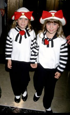 Olsen twins! I was such a die hard fan as a kid. To this day I can tell them apart.