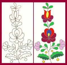 Mexican Embroidery, Hungarian Embroidery, Folk Embroidery, Learn Embroidery, Silk Ribbon Embroidery, Hand Embroidery Designs, Embroidery Stitches, Embroidery Patterns, Beading Patterns