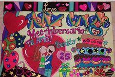 Tarjetas Valentines, Ideas Para, Cool Stuff, Party, Diy, Amor, Letter Crafts, Birthday Display, Banner Design
