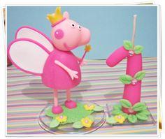 Topo de bolo Peppa Pig.