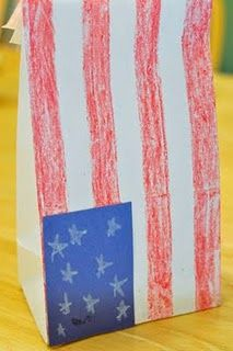 Super-easy Flag Bag! - Re-pinned by #PediaStaff.  Visit http://ht.ly/63sNt for all our pediatric therapy pins