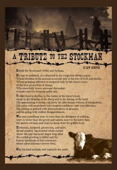 A Tribute to the Stockman. The Poem to be read at my granddads funeral.