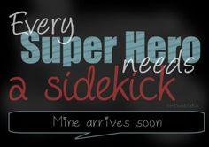 Free Printable / Druckdatei auf dem Blog / Every superhero needs a sidekick / pregnancy, Geschwisterbild zum Ausdrucken