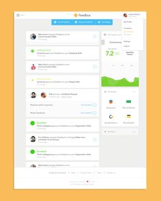 Feedbox - Web App Dashboard by André Oliveira for Pixelmatters