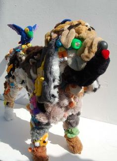 sculptures from recycled stuff !