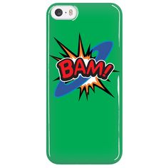 BAM! iPhone 5 cell phone case (Green)