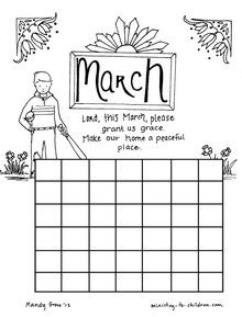 Christian Calendar Coloring Pages learn at home