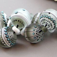 Magma Beads ~Luna minis~ Handmade Lampwork Beads.